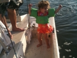 Riley does the Redfish dance!